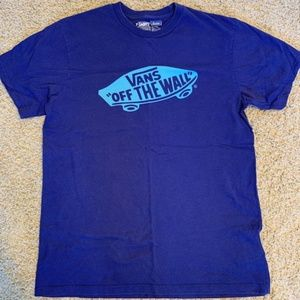 Men's Medium Purple/Blue Vans Graphic tshirt